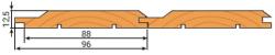 Вагонка хвоя 12,5х96мм сорт В