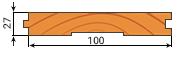 Доска пола сосна 27х100мм