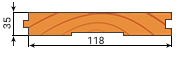 Доска пола сосна 35х118мм сорт С