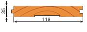 Доска пола сосна 35х118мм сорт В