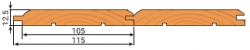 Вагонка штиль сорт АВ 12,5х115мм