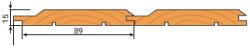 Вагонка сорт АВ 15х89мм