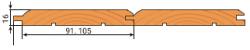 Вагонка штиль сорт В 16х91,105мм
