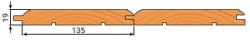 Имитация бруса сосна 19х135мм сорт В