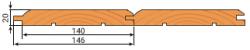 Имитация бруса хвоя 20х146мм сорт Прайм