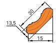 Плинтус потолочный 13,5х30мм цельный бессучковый
