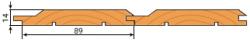 Вагонка ольха 14х89мм сорт АВ